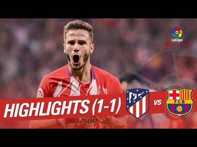 Resumen de Atlético de Madrid vs FC Barcelona (1-1)