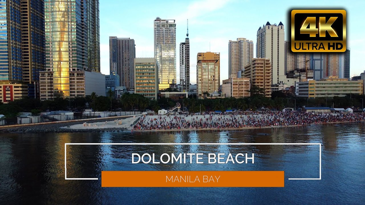 Download DOLOMITE BEACH - Manila Bay Philippines  |  4K resolution - DRONE AERIAL