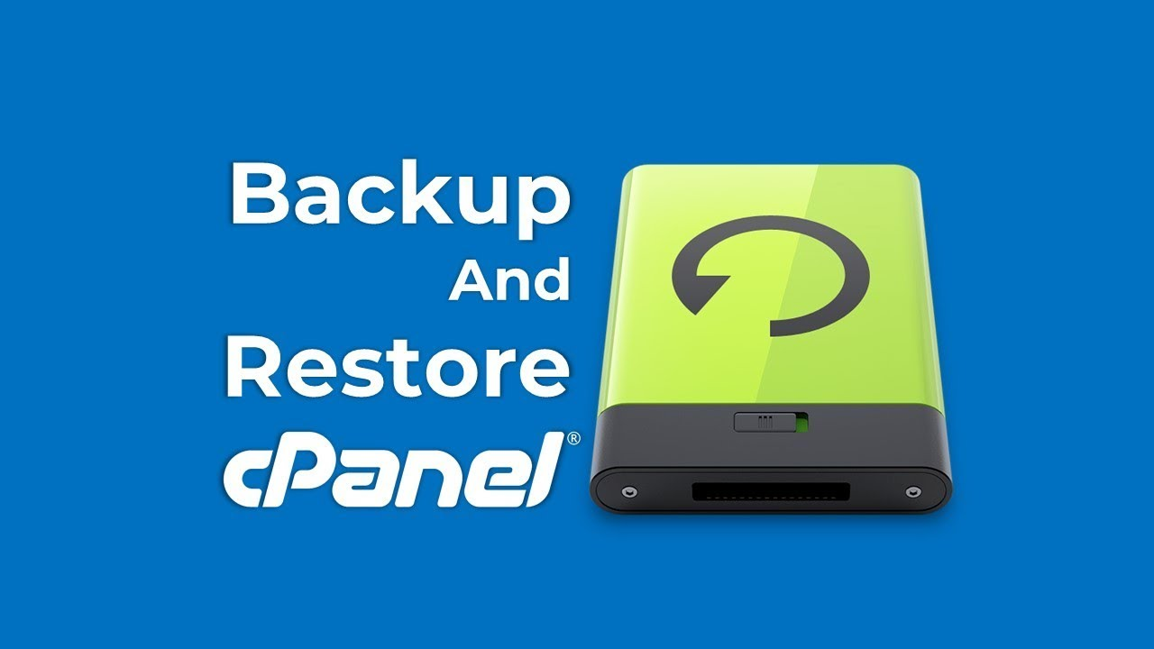 cPanel Backup & Restore - YouTube