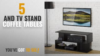 Top 10 And Tv Stand Coffee Tables [2018]: Homury Modern Coffee Table TV Stand Bookcase Bookshelf
