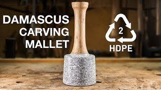 Damascus Mallet from plastic bottles