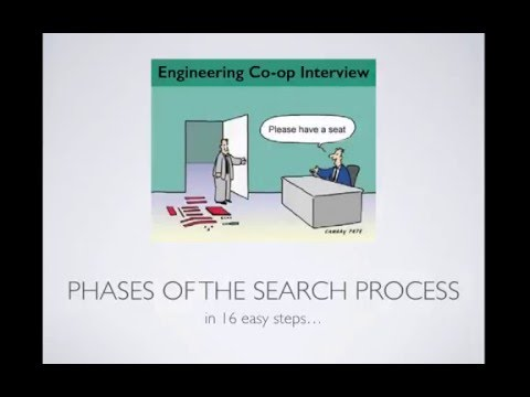 Introduction to Co-op - The Co-op Search process (University of Cincinnati)