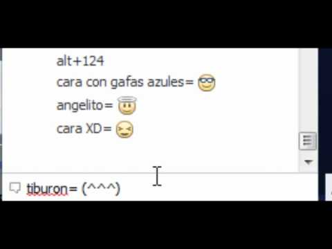 Truco de Facebook 1 (Emoticons y caras en el chat)