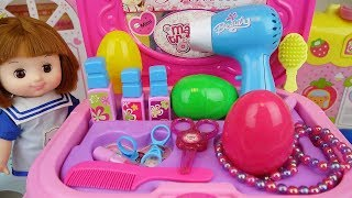 Baby Doll beauty and hair shop box surprise eggs play baby Doli
