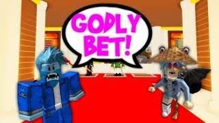 GODLY BETTING A RANDOM PERSON! (ROBLOX)