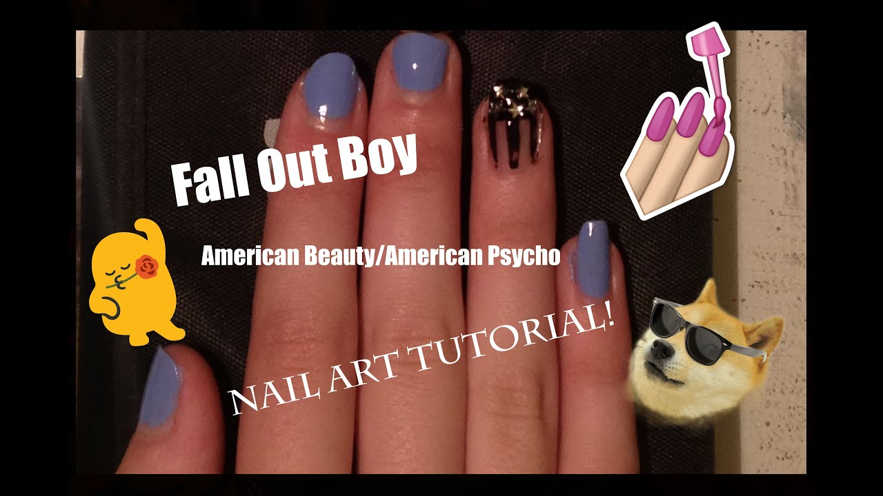 Fall Out Boy Inspired Nail Art | American Beauty/American Psycho ...