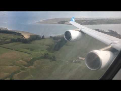 Air Tahiti Nui Airbus A340-300 Takeoff from Auckland Business Class HD