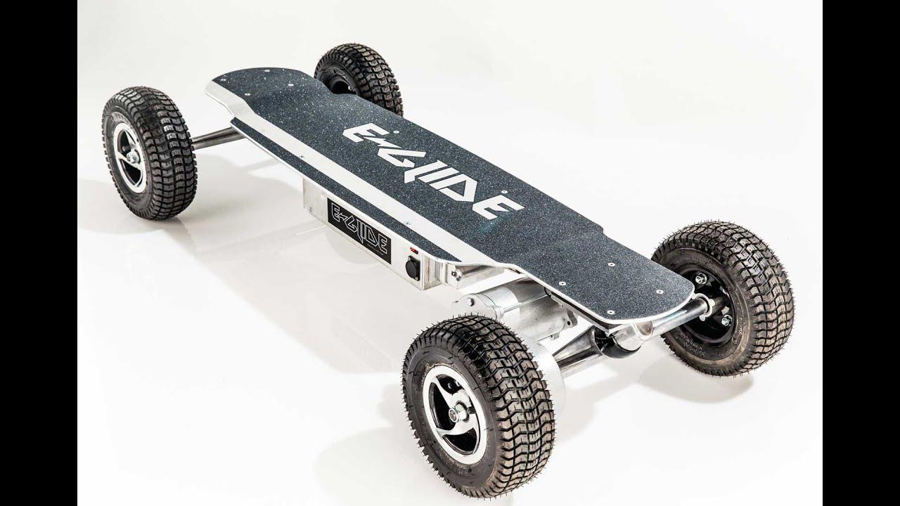 e glide gt off road electric skateboard unboxing and demo. Black Bedroom Furniture Sets. Home Design Ideas