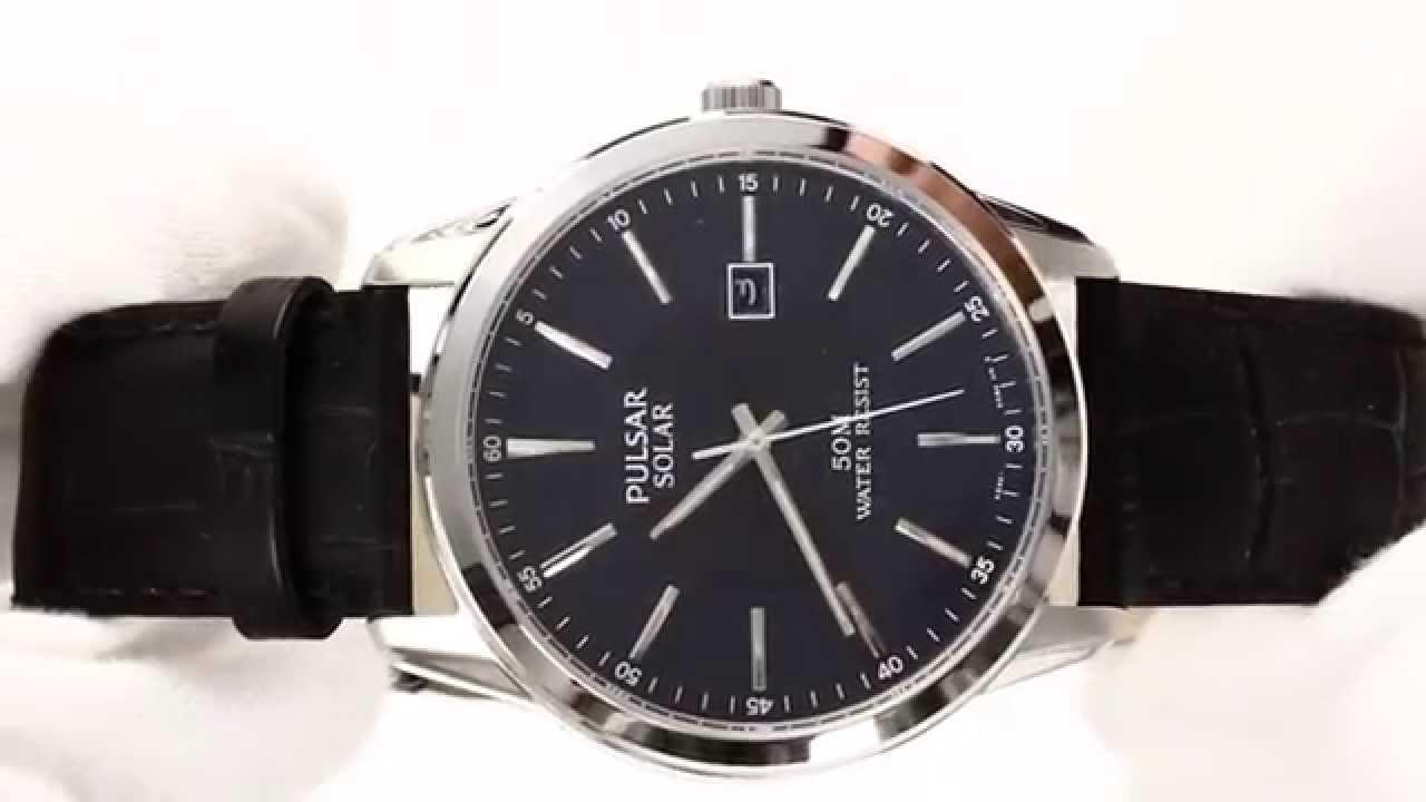 9e8ddfde2 Hands On With Men's Pulsar Solar Watch PX3 029 - YouTube