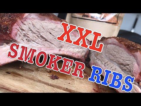 XXL BBQ RIBS ST. LOUIS STYLE vom SMOKER Spareribs Rippchen --- Klaus grillt