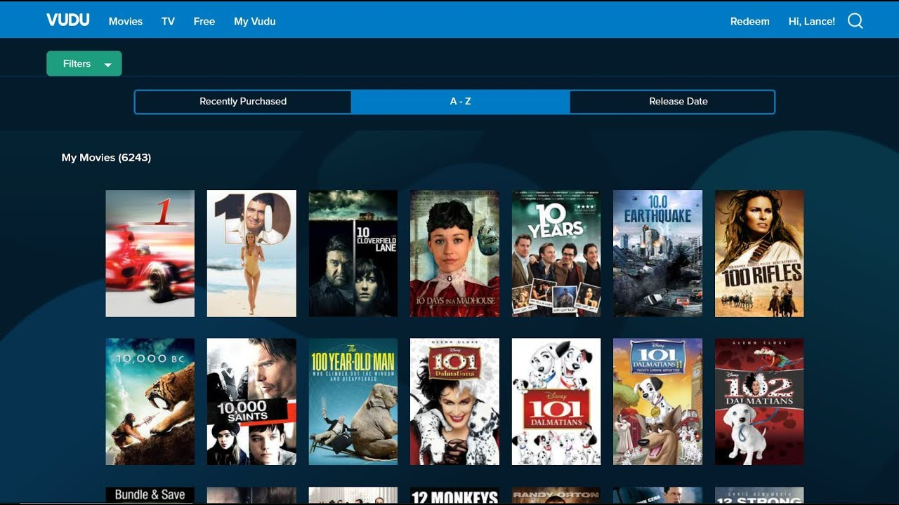 Download My VUDU Collection of 6,243 Movies -10/28/19 By Lance Muller
