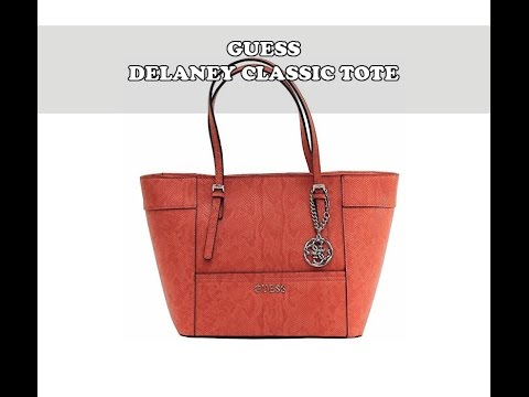 673333afd4e7 Guess Delaney Classic Tote Handbag Review - YouTube