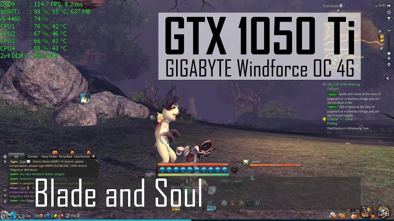 Blade and Soul | 1080p Max Advanced-Off | GTX 1050 Ti | i5-4460