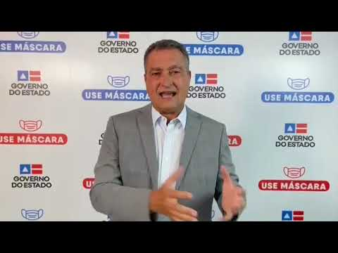 Governador Rui Costa anuncia toque de recolher na Bahia por 7 dias