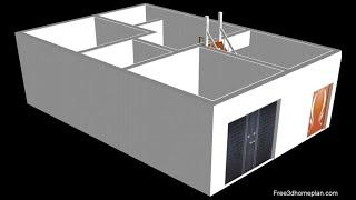 7x10 Small House design Plan 1 bedroom with attached SHOP (DUKAN)- house plan II ghar ka naksha 2020