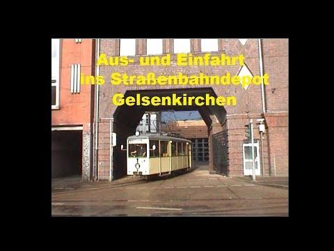 Straßenbahn Depot Gelsenkirchen Aus Und Einfahrt Youtube