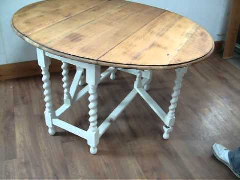 oak topped painted shabby chic dining table