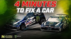 4 MINUTES to Fix Solberg's Car! | 🚩Red Flag Crash! 🚩 | FIA World Rallycross
