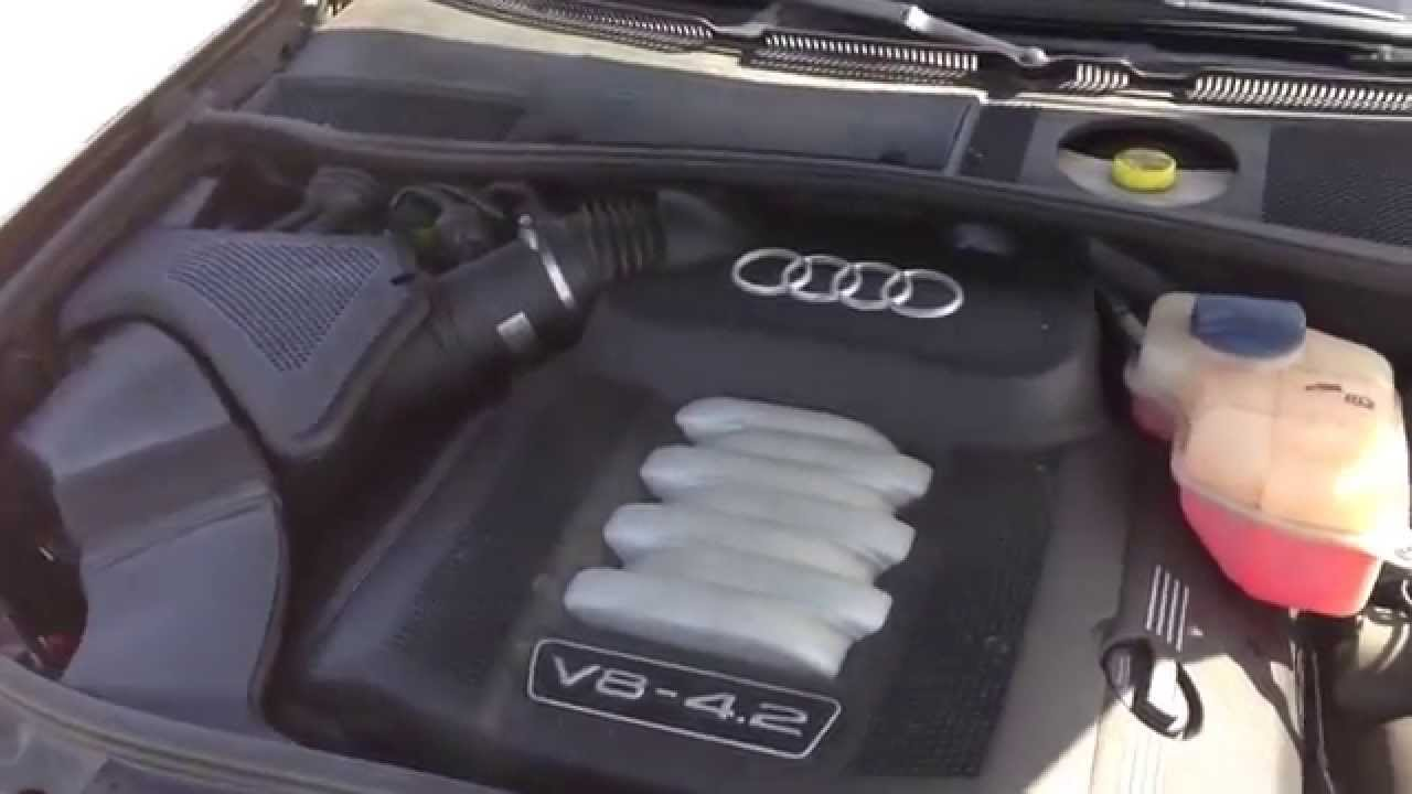 2004 audi a6 v8 4 2 engine air filter change diy youtube rh youtube com