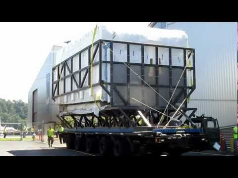 Space Shuttle FFT Pay Load Bay Section Transported to Seattle Museum of Flight