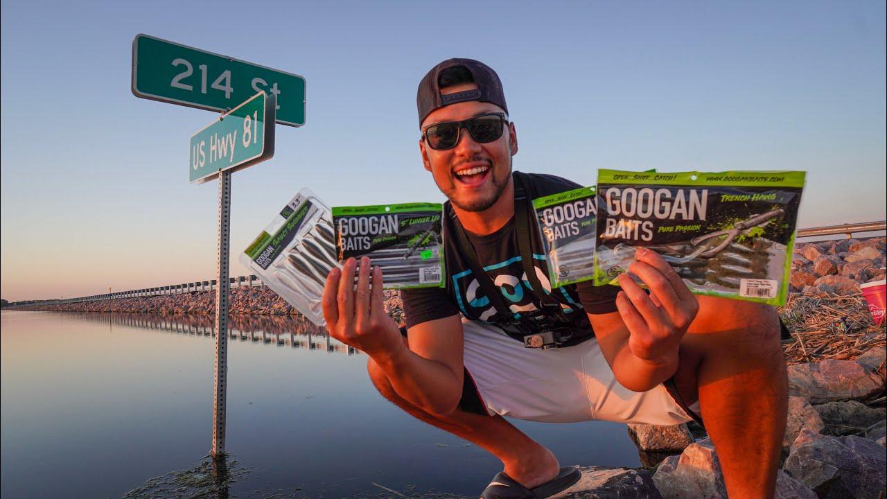 Googan Baits FLOODED ROADSIDE DITCH Fishing Challenge! (TOPWATER WALLEYE FISHING)