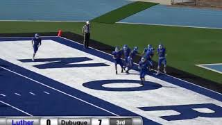 Luther blocks punt, controls it for a TD