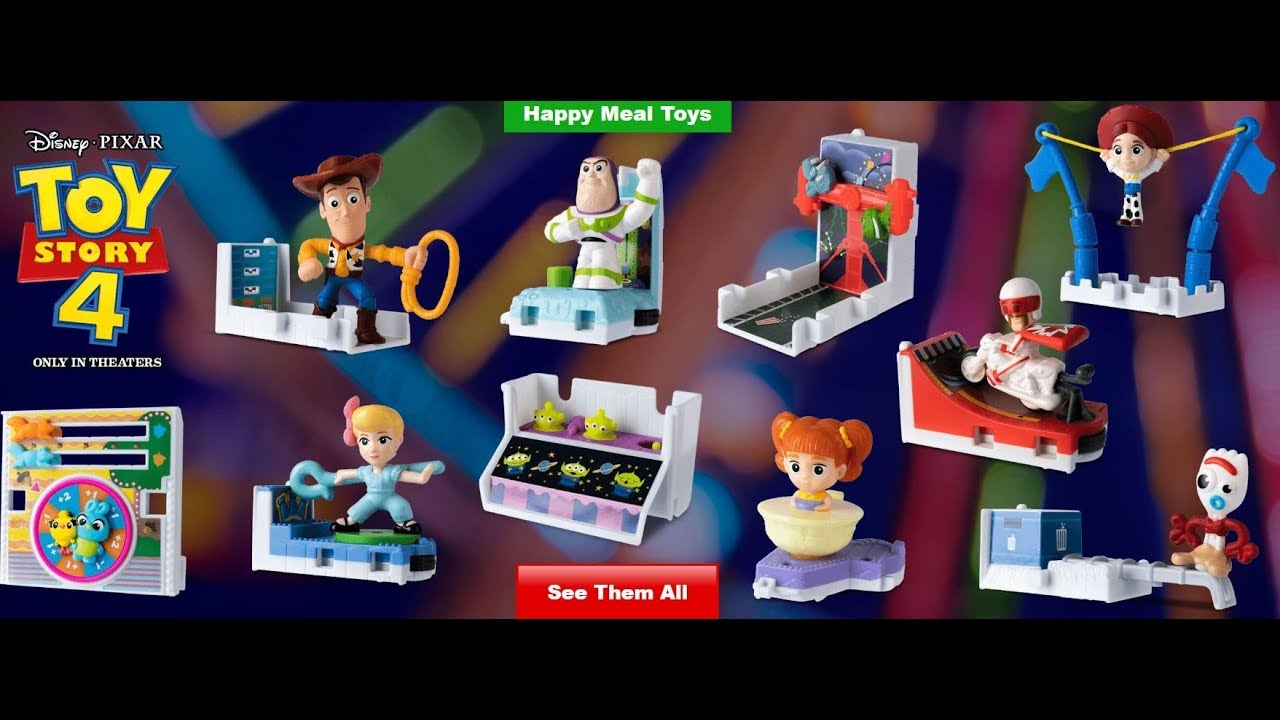 The Toy Story 4 June 2019 Mcdonald's Happy Meal Toys are Finally Here!  Tickets To Toy Time!