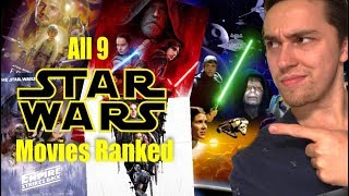 All 9 star wars movies ranked from worst to best ( w /the last jedi)