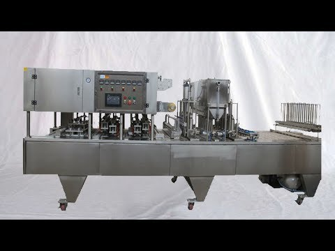 8 lanes cups filling cupping machine for juice liquid automatic cup filler food equipment 八列灌裝封杯機