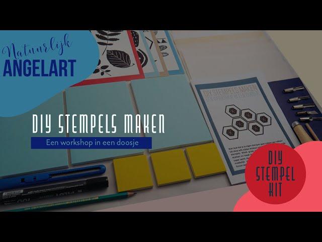 DIY STEMPELS MAKEN - Een workshop in een doosje