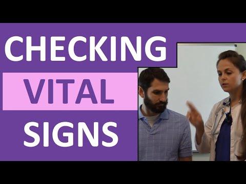 How to Check Vital Signs | Checking Vitals Nursing ...