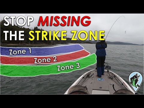 Bass Fishing Strike Zones Explained | Boat Positioning And Casting Angles When Fishing Down The Bank