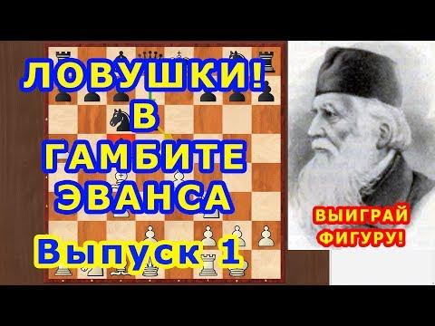 Шахматы ♕ Шахматные ЛОВУШКИ! ♔ Как ВЫИГРАТЬ ФИГУРУ! в дебюте ГАМБИТ ЭВАНСА ⚔