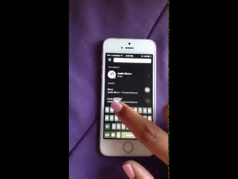 How to look for a song/ artist/ album/ playlist with Spotify   iPhone   /   iPad    iOS9