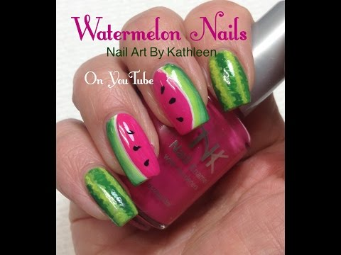 Easy DIY Watermelon Nail Art