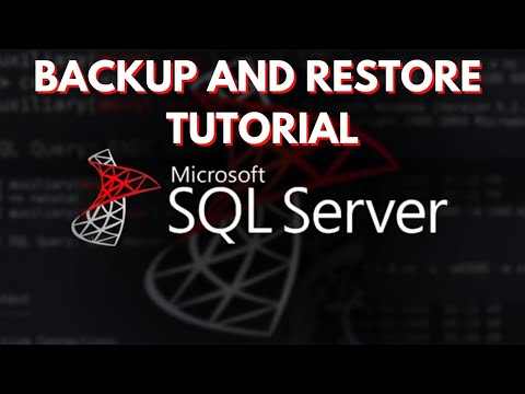 SQL Server   How to Backup and Restore Databases (Part 1)