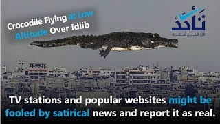 TV stations and popular websites might be fooled by satirical news and report it as real.