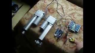 Linear Actuator with Arduino - YouTube