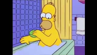 Bart hits homer with a chair (Fortnite Meme)
