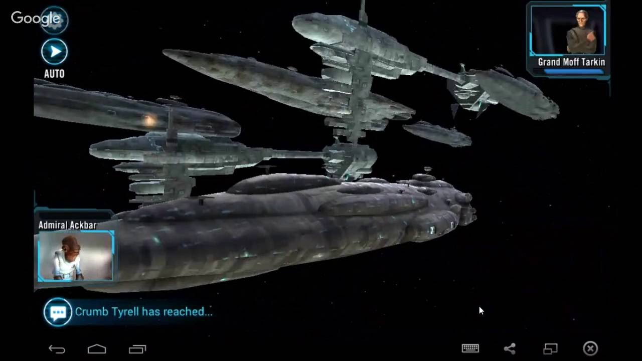 Ship Battles In Star Wars Galaxy Of Heroes Youtube