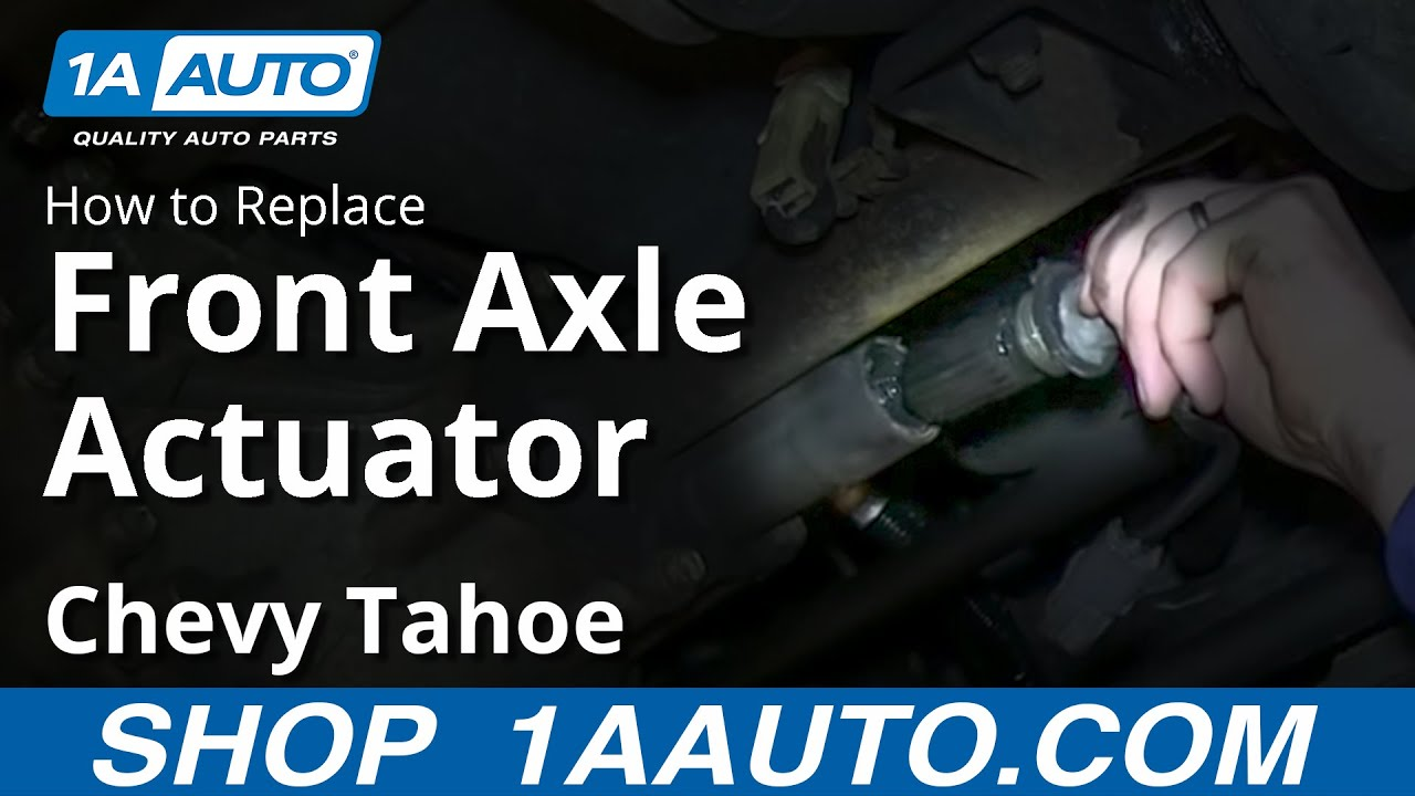 How To Install Repalce Front 4x4 Axle Actuator 1995-99 Chevy Tahoe ...