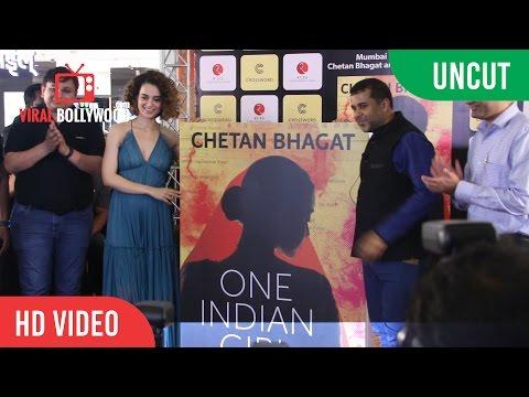 UNCUT - One Indian Girl Book Launch   kangana Ranaut, Chetan Bhagat