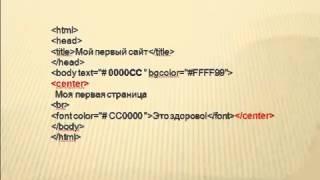 Как создать сайт Видеоурок по HTML для чайников