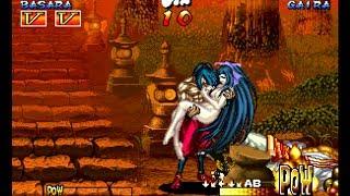 Samurai Shodown III: Basara playthrough / lvl-4 【60fps】