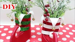 DIY Crafts: Christmas Decorations/Ornaments Ideas or Gift with Felt Foam and Plastic Bottles