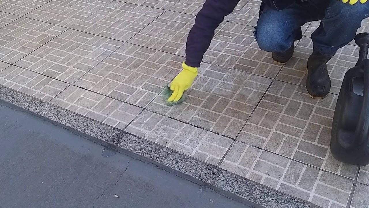 Como limpar piso rampa de garagem queimado de ácido? (links na descrição)
