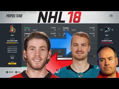 NHL 18 - HOFFMAN TO SAN JOSE/FLORIDA TRADE SIMULATION