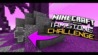 I AM STONE CHALLENGE!!!   Minecraft Pocket Edition (Skywars Trolling W/ PocketGaming)