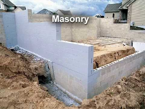 Survey of different foundation wall types youtube for Different foundations