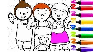 Coloriage Tchoupi et ses amis | Tchoupi a l ecole | Pas de panique ! | T